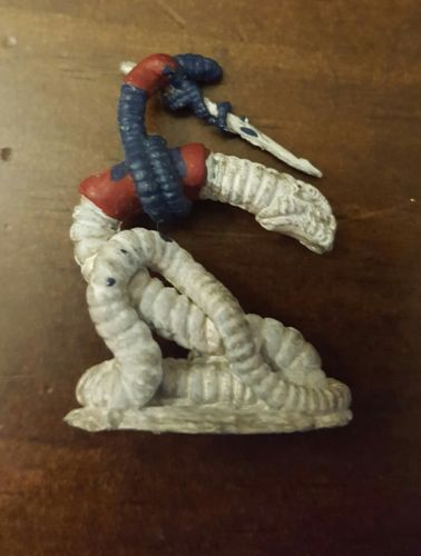 Vintage Grenadier NIGHTMARE WORM LARVOID RIDER D&D Subterranean metal Miniature