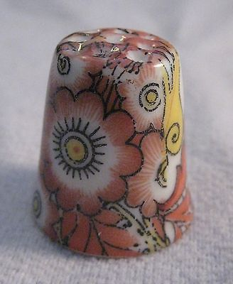 Vintage Paisley Flower Collectible Porcelain Thimble - * Free Shipping*
