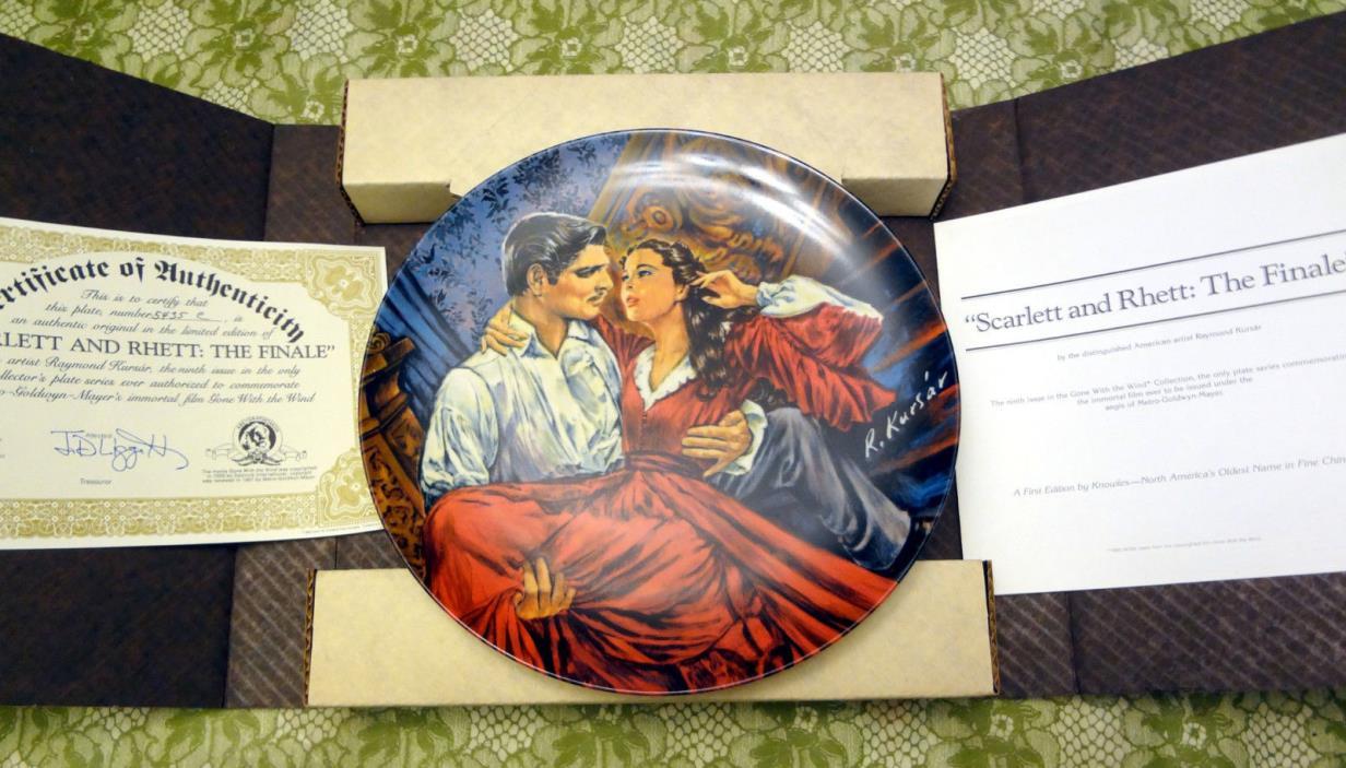 mint collectors plate ---