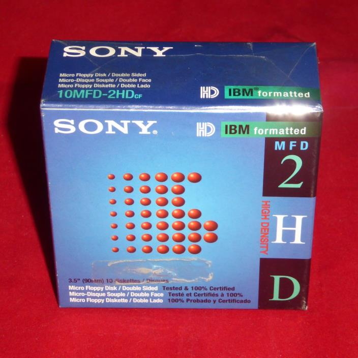 NEW Sony Pack of 10 3.5
