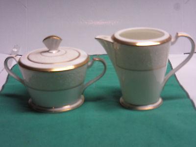Noritake White Palace fine china 1-creamer, 1-sugar with lid all new