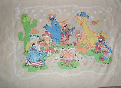 Sesame Street Pillowcase Western Campfire Cookie Monster Big Bird Grover