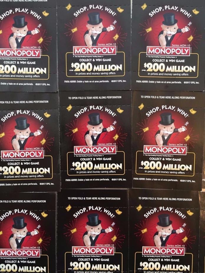 19 Safeway Albertsons Vons Game Pieces Tickets