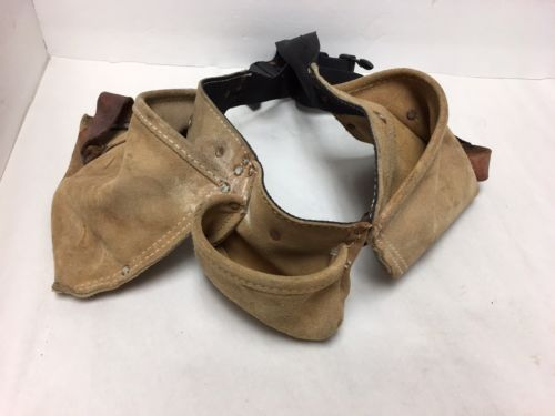 Men's Construction Tool Belt Tan Black Strap