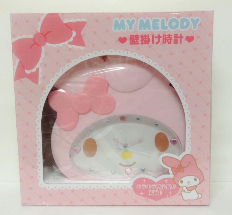 My Melody Face Shaped Wall Clock Pink Sanrio From Japan kawaii