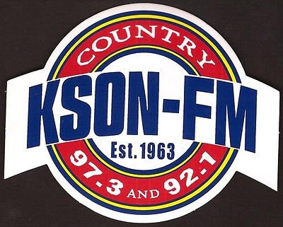 Lot of 2 Country Music Radio Station Bumper Stickers - KSON San Diego