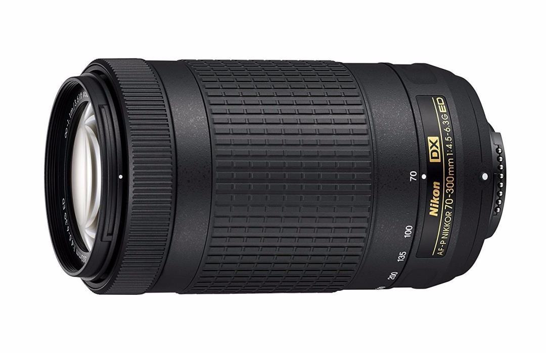 Nikon AF-P DX NIKKOR 70-300mm F/4.5-6.3 G ED DSLR Camera Lens (NEVER USED)