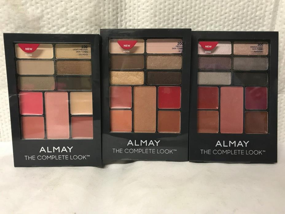 ALMAY THE COMPLETE LOOK PALETTE FOR EYES LIPS CHEEKS - CHOOSE FOR YOUR SKIN TONE