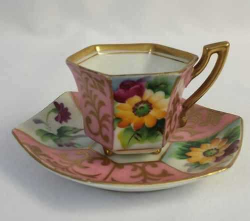 Vintage Merit Japanese China Footed Tea Cup & Saucer