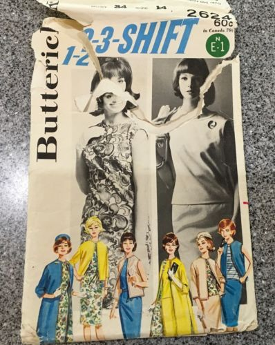 Vintage SEWING PATTERN BUTTERICK #2624 SZ 14 MISSES SKIRTS COORDINATES 123 Shift