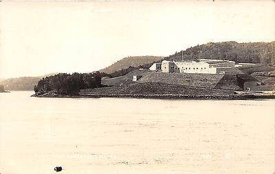 Bucksport Maine~Fort Knox along Penobscot River~c1915 Defender Postcard-RPPC