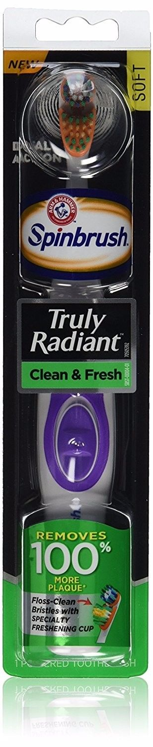 Arm And Hammer Spinbrush Truly Radiant Deep Clean Powered Toothbrush Soft Brush