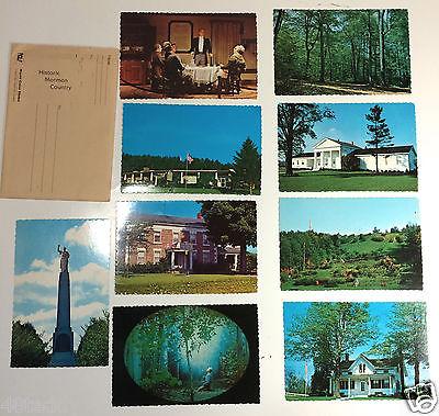 Palmyra,NY Vintage Mormon plastichrome (9) postcards