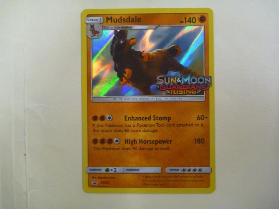 Pokemon Mudsdale  SM20 Prerelease Promo Guardians Rising Near Mint