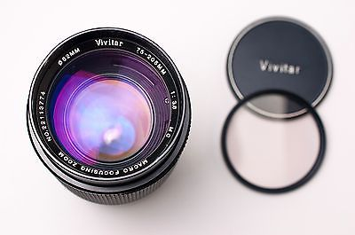 Vivitar 75-205mm f/3.8 MC Macro Focusing Zoom Lens for Canon FD by Kino (#2066)