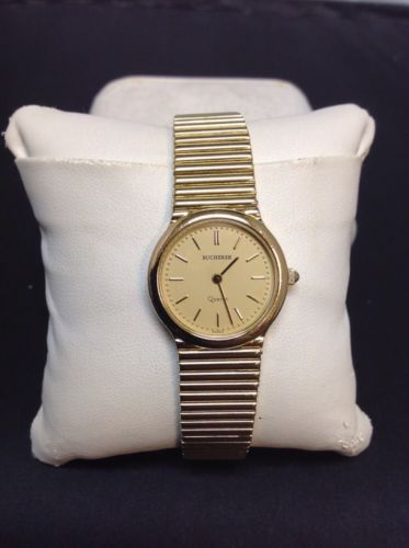 Vintage Women's BUCHERER Gold Plated Swiss Made Quartz Watch