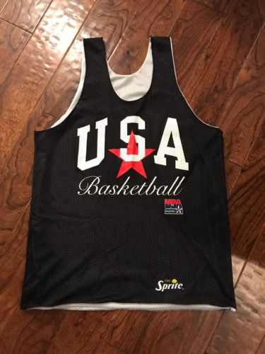 Vintage Team USA Dream Team Practice Jersey Men's Large Basketball Sprite 90's