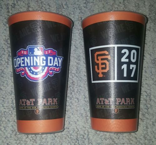 LOT of 2 San Francisco Giants 2017 Opening Day Cups 32 oz MLB