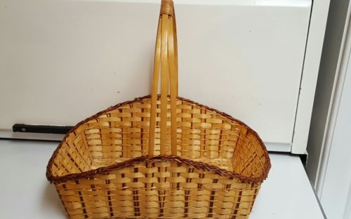Vintage Rattan~Woven Basket with Handle