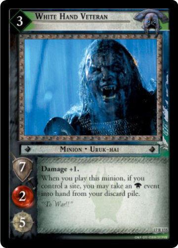 LOTR TCG ROS Rise of Saruman White Hand Veteran 17r135 NM/MINT a Top Shelf Card