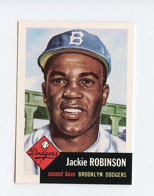 Jackie Robinson - Brooklyn Dodgers 1991 TOPPS 53' Topps Archives Reprint