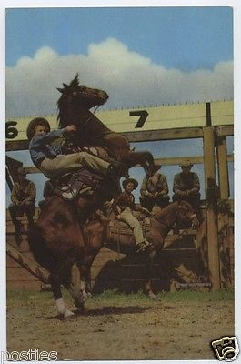 1941 PENDLETON Round Up RODEO COWBOY Oregon OR Union Oil Co 76 Gasoline Postcard