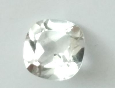 Natural White Topaz 6x6mm Cushion Cut