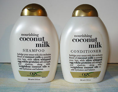OGX NOURISHING COCONUT MILK SHAMPOO & CONDITIONER 13 OUNCE NEW