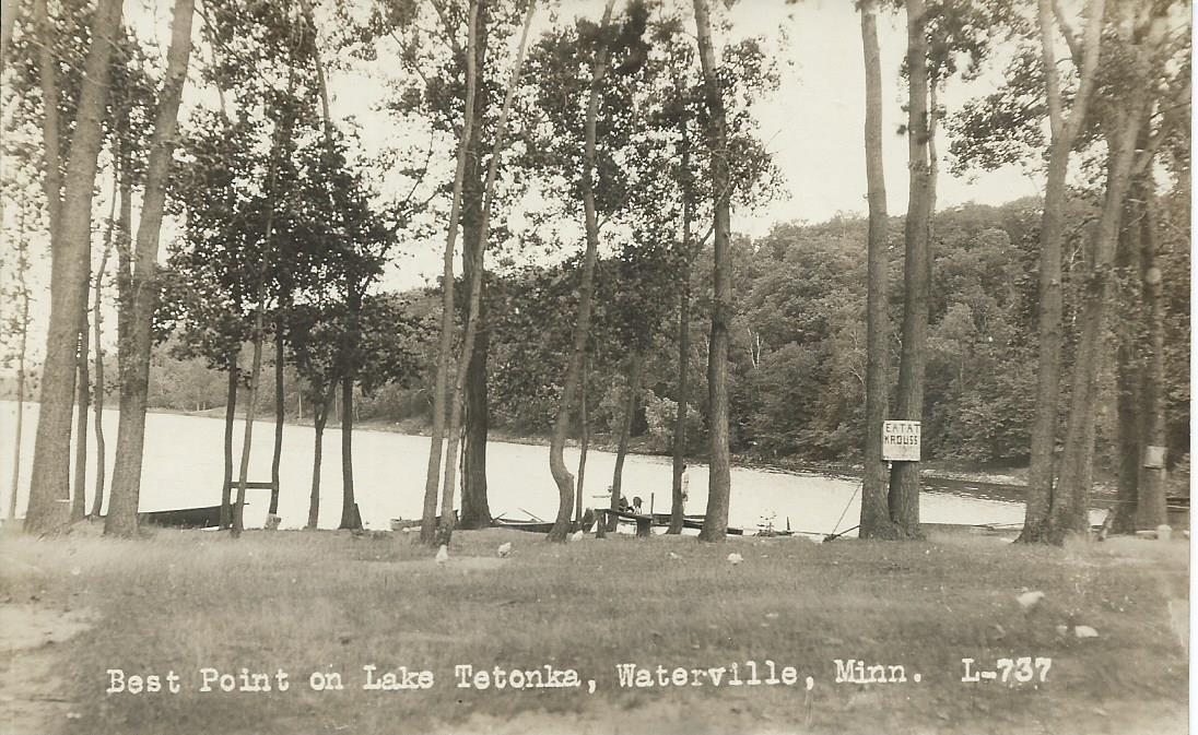 RPPC. Best Point on Lake Tetonka, Waterville Minn Minnesota MN Postcard Unused