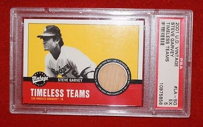 Steve Garvey - 2001 Upper Deck Vintage - Timeless Teams Bat Card - PSA 5 (EX)