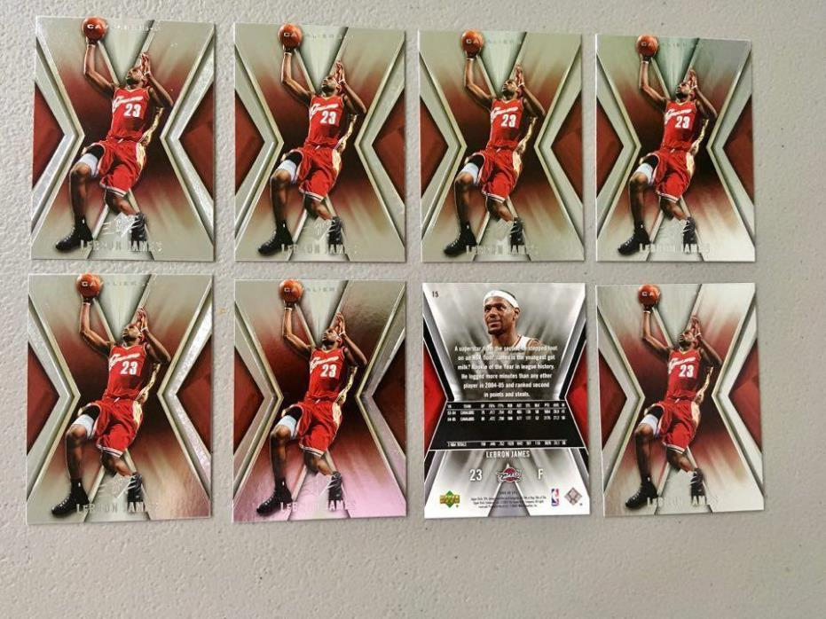 (x8) 2005-06 Upper Deck SPx LEBRON JAMES lot/set #15 3rd year cards smoking hot!