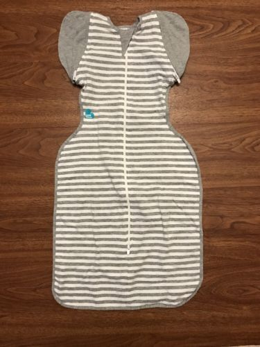 Love To Dream Swaddle UP- 50/50- Gray Stripe-medium 13-18.5lbs