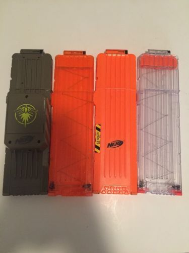 LOT of 4 Nerf  18 Max Round Dart Ammo Clip Magazines