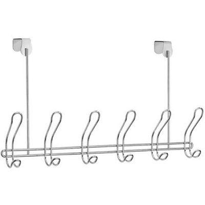Mainstays 6-Hook Rack, Chrome W