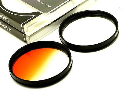 72mm Graduated Orange + 4 Point Star Filters Set For Canon Nikon DLSR SLR Lens