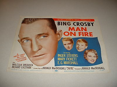 MAN ON FIRE-CROSBY-1957  TITLE CARD