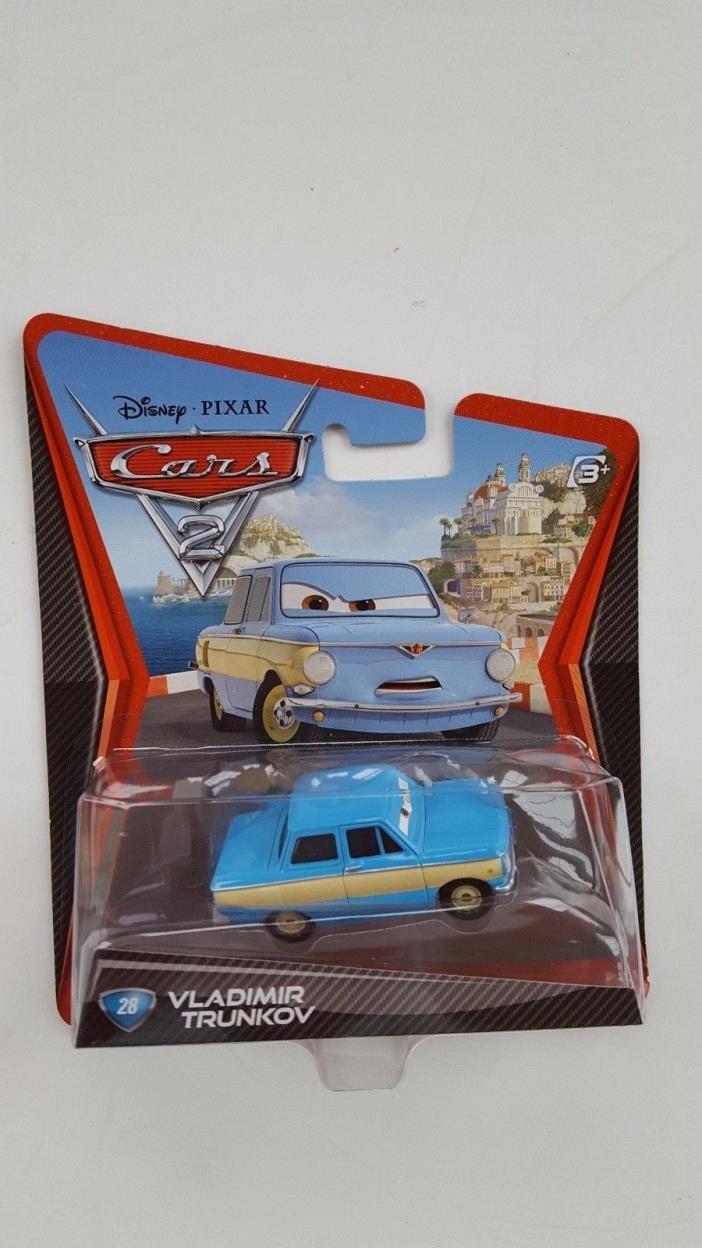BRAND NEW DISNEY PIXAR CARS2 VLADIMIR TRUNKOV 28 MINT IN SEALED BOX RARE!!!!