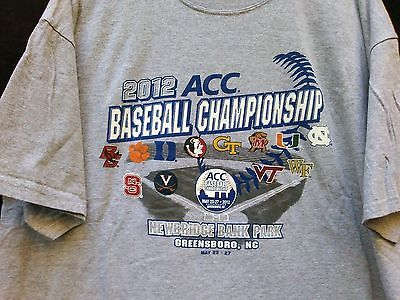 Collector Item - GEAR SzXXL 2012 ACC Baseball Championship COTTON Short Sleeve T