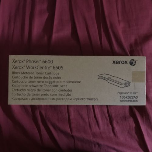 New Genuine Xerox 106R02240 Black Metered Toner Phaser 6600 WorkCentre 6605
