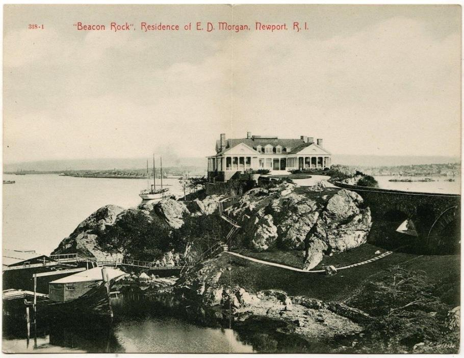 Newport, RI - Beacon Rock - E. D. Morgan - Double PC