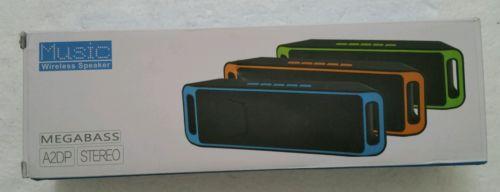 Sicneka Bluetooth 4.0 Portable Wireless Speaker TF USB FM Radio Built-in Mic ...