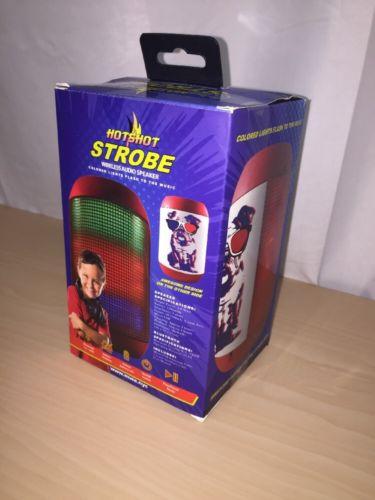 Wireless Portable Bluetooth Strobe Led Light Color Flashing Speaker Hotshot