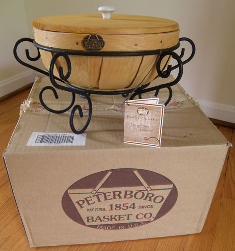 Peterboro Wrought Iron Collection Centerpiece Basket With Box Tag