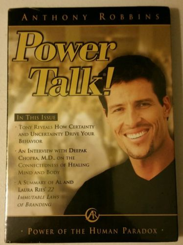 ANTHONY ROBBINS POWER TALK  POWER OF THE HUMAN PARADOX DEEPAK CHOPRA