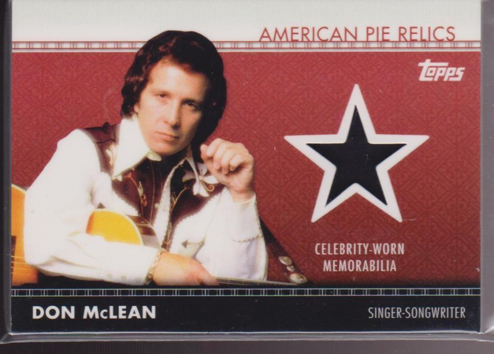 2011 Topps American Pie Relic Don McLean Singer