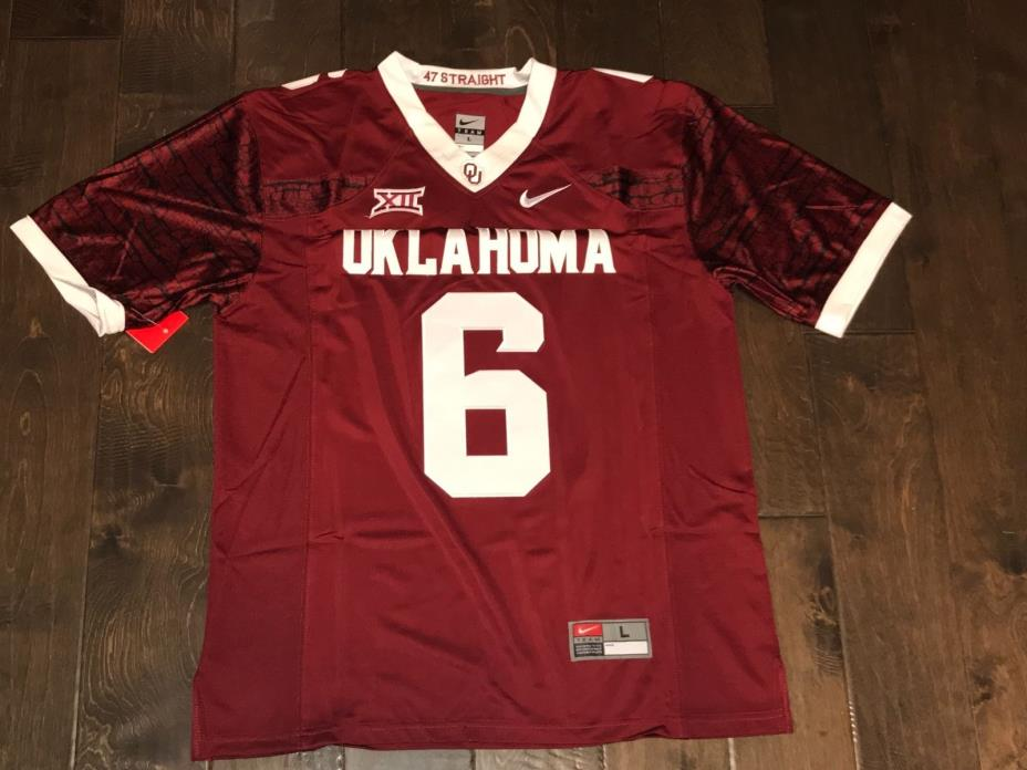 Baker Mayfield Oklahoma Sooners Jersey #6 Crimson Mens Stitched