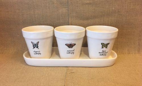 New Rae Dunn Planter Set Rae Dunn Spring Rae Dunn Butterfly Planters Magenta