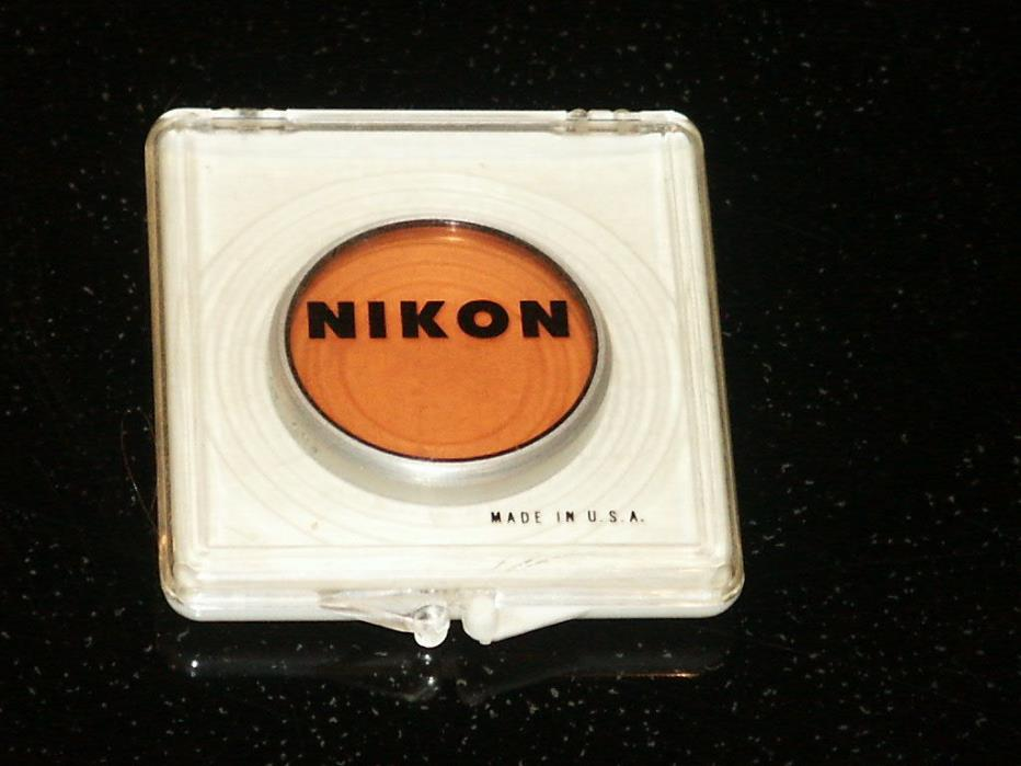 Nikon Orange Colored Lens #85  40.5mm  Made in USA