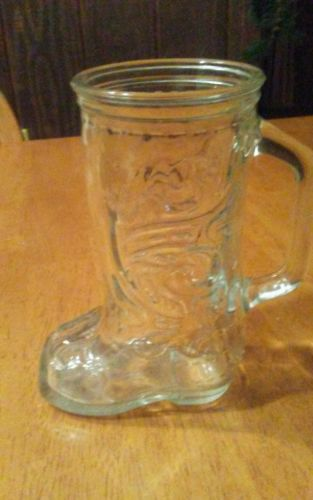 4 Vintage Cowboy Western Boot Glass Mugs 6
