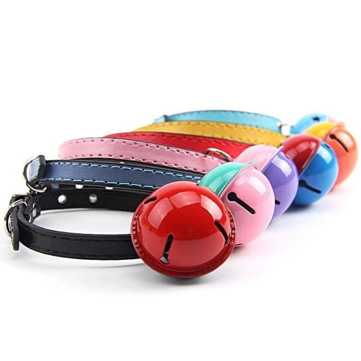 Fashion Leather Pet Collars for Cats,baby Puppies Dogs,adjustable